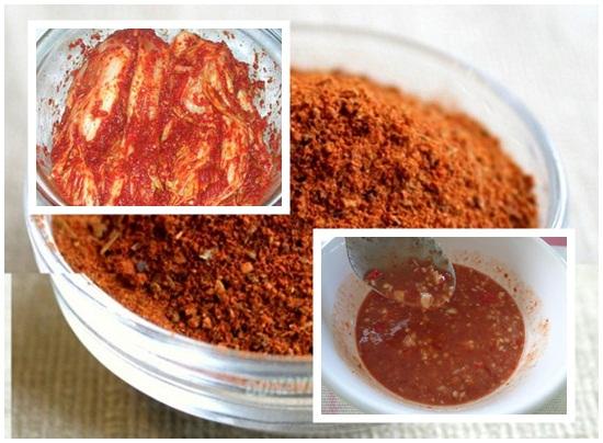 Sử dụng ớt bột hàn quốc
