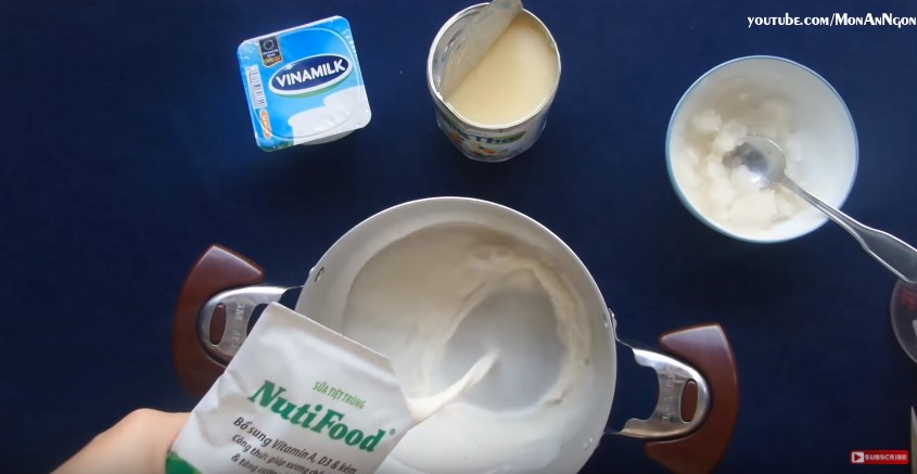 Cách nấu sữa chua dẻo với bột rau câu tại nhà dễ dàng và nhanh không cần bột gelatin hình 2