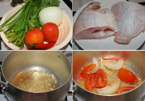 Các bước làm cá diêu hồng nấu riêu