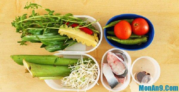 Nguyên liệu cần cho cách nấu canh chua cá hú