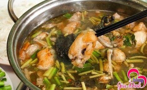 Yêu cầu của món lẩu ếch lá giang: