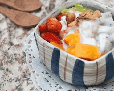 Cách làm sữa chua trái cây các loại 4