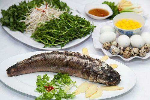 Nguyên liệu cần cho cách nấu cháo cá lóc miền Tây