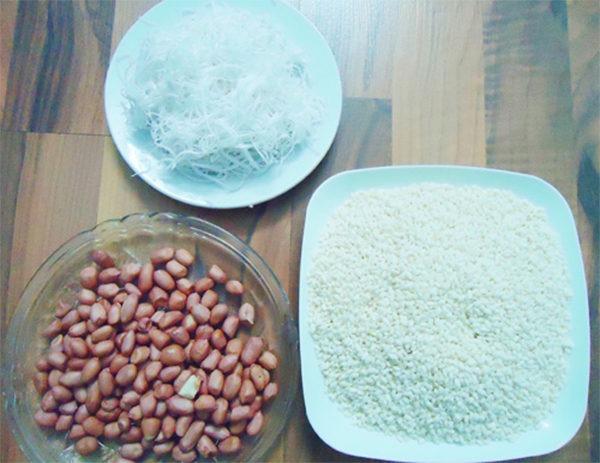 Nguyên liệu cần cho cách nấu xôi lạc