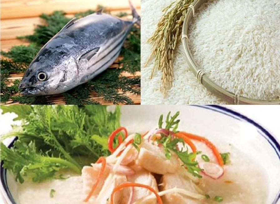 Nguyên liệu cần cho cách nấu cháo cá ngừ