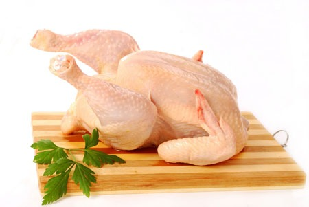 Làm sạch thịt gà